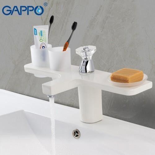Белый смеситель для раковины Gappo G1096-8