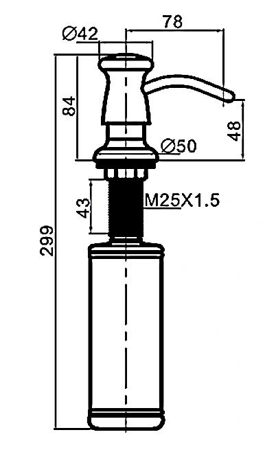 Встраиваемый дозатор для мойки Gappo G403-5 сатин