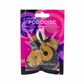 Набор сменных файлов-колец для педикюрного диска PODODISC STALEKS PRO L 240 грит (50 шт)