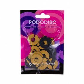 Набор сменных файлов-колец для педикюрного диска PODODISC STALEKS PRO M 80 грит (50 шт)