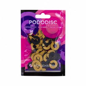Набор сменных файлов-колец для педикюрного диска PODODISC STALEKS PRO S 80 грит (50 шт)
