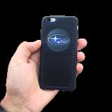 Кожаный чехол-накладка с логотипом «Subaru» на телефон