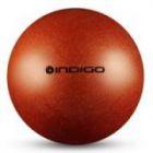 Мяч металлик IN118 19 см Indigo для художественной гимнастики оранжевый