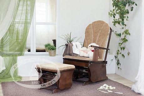 С 254 Кресло-качалка с подставкой для ног
