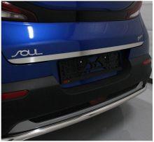 Накладка (кант) на крышку багажника, ТСС, матовая сталь
