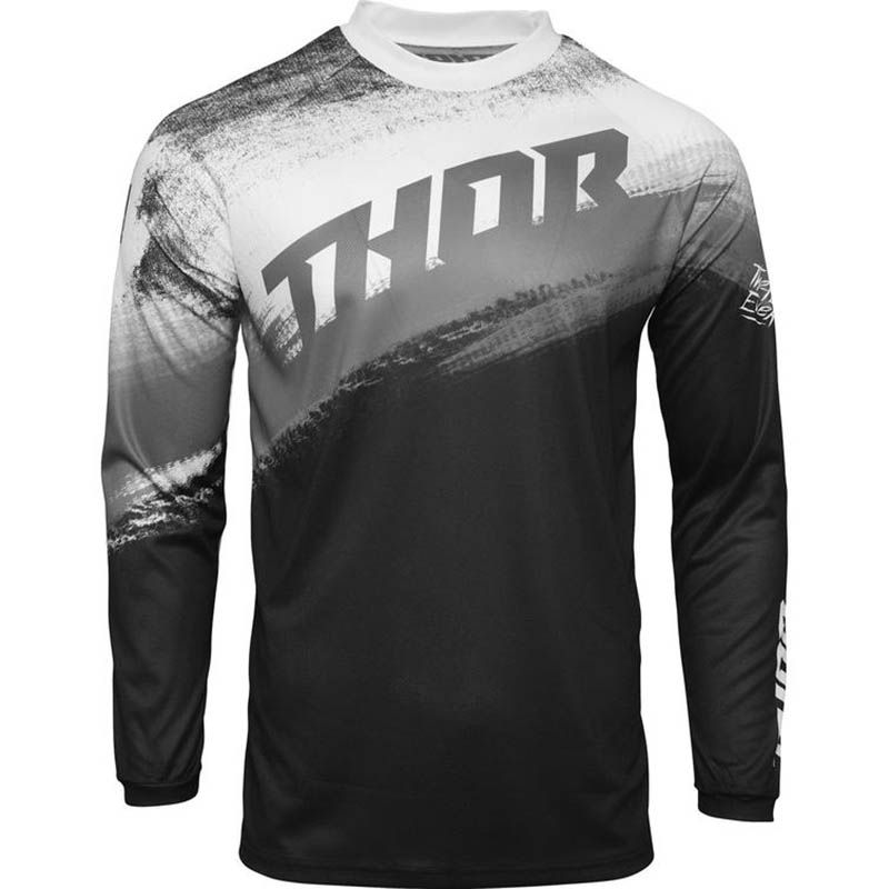 Thor Sector Vapor Black/White джерси для мотокросса