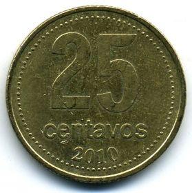 Аргентина 25 сентаво 2010