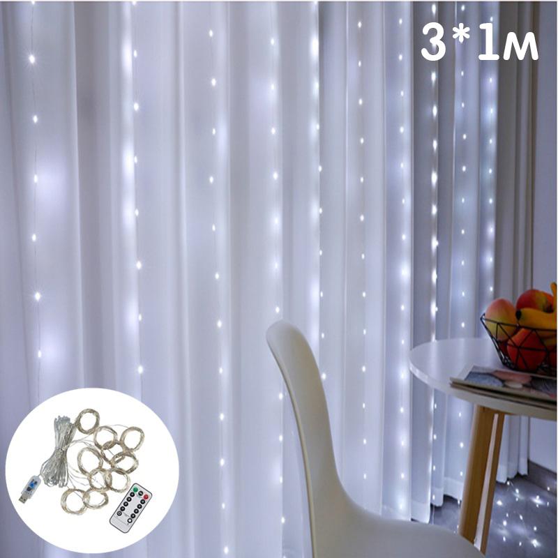 Огонек OG-LDG10 гирлянда-штора LED (3х1м,100 ламп,белая-холодная)