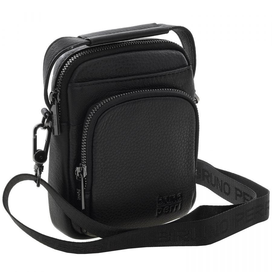 Кожаная мужская сумка Bruno Perri 9346-12/1 чёрная