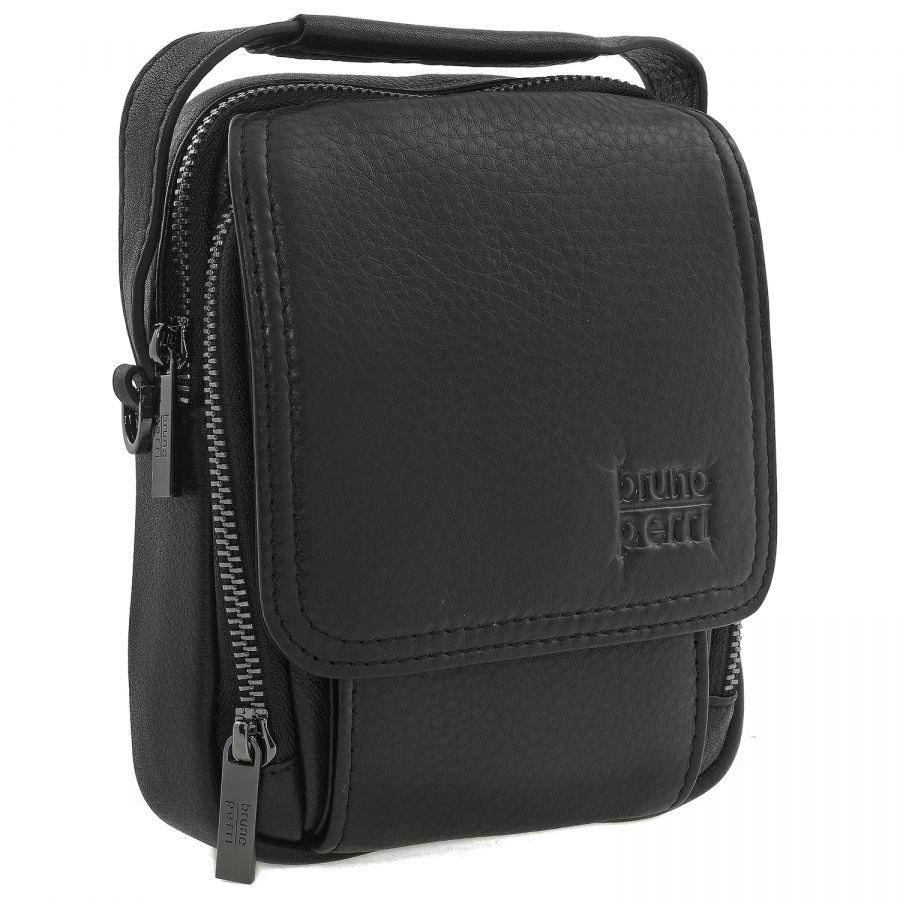 Кожаная мужская сумка Bruno Perri 9346-13/1 чёрная