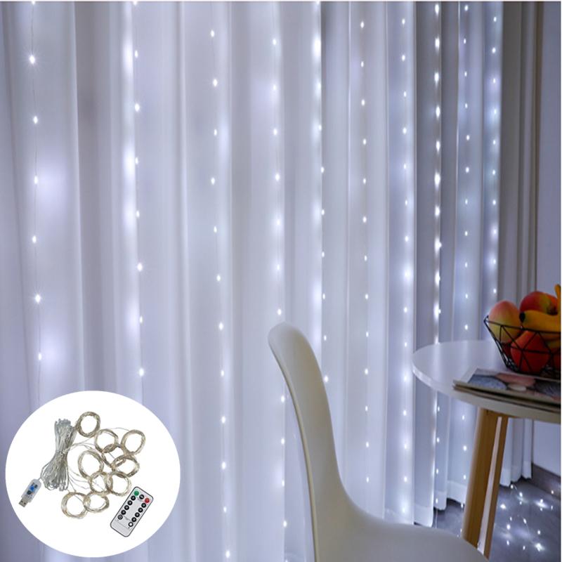 Огонек OG-LDG08 гирлянда-штора LED (3х3м,300 ламп,белая-холодная)