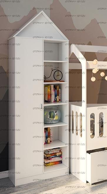 Шкаф-стеллаж 2-дверный Фанки Кидз Домик (75х33х240)