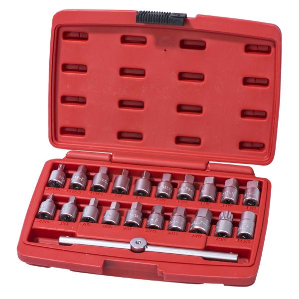 ST095 Набор головок для маслосливных пробок, 21 предметов