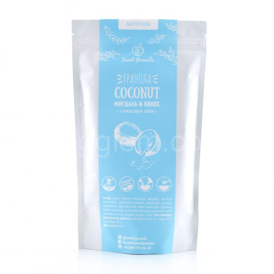 Гранола Coconut миндаль и кокос Sweet Granola,300 грамм