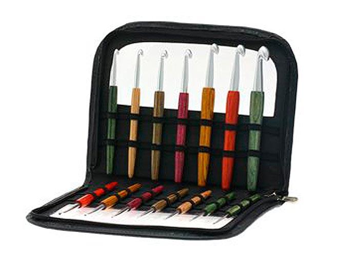 Набор крючков SIGNAL Lana Grossa с цветной деревянной ручкой