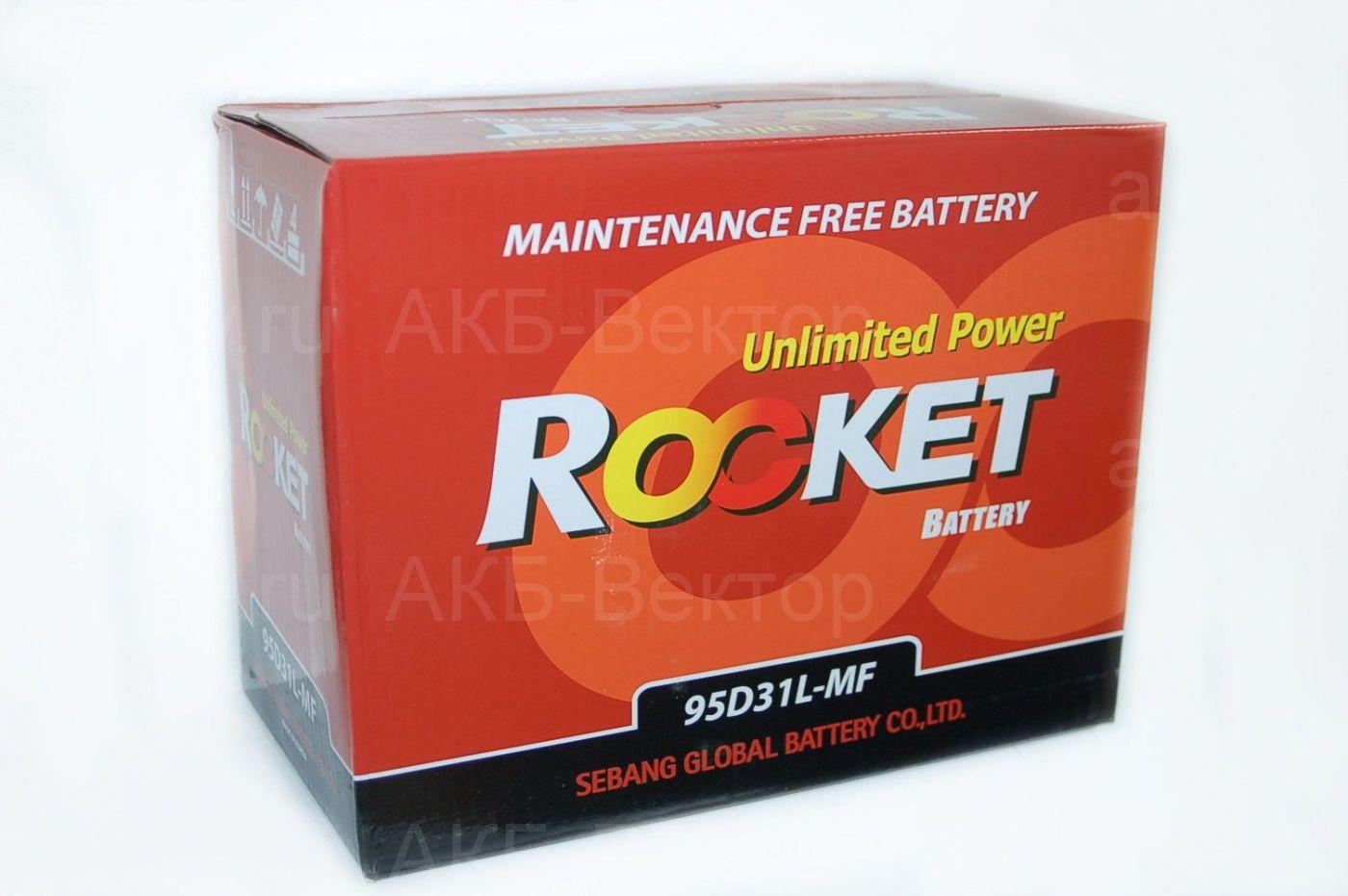 Rocket 80Ач /95D31L-MF (95D31R-MF)