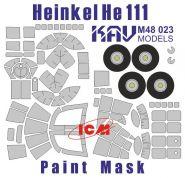 Окрасочная маска на остекление He-111 (ICM 48261)