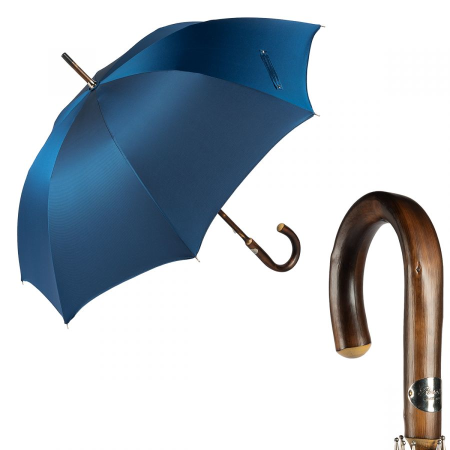 Зонт-трость Pasotti Chestnut Oxford Blu