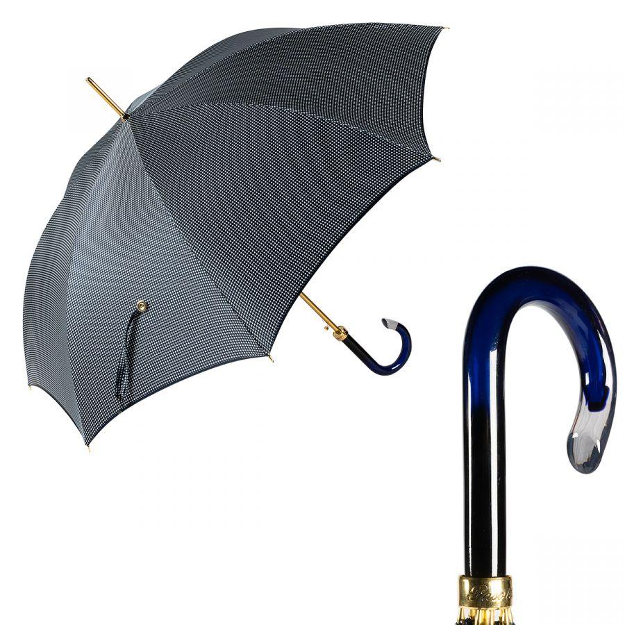 Зонт-трость Pasotti Uno Pepita Blu Plastica