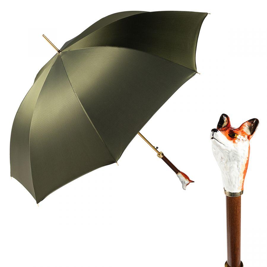 Зонт-трость Pasotti Volpe Oxford Oliva  Fodero Anello