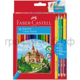 Карандаши цв.36цв.Faber-Castell +4цв.точилка 110336