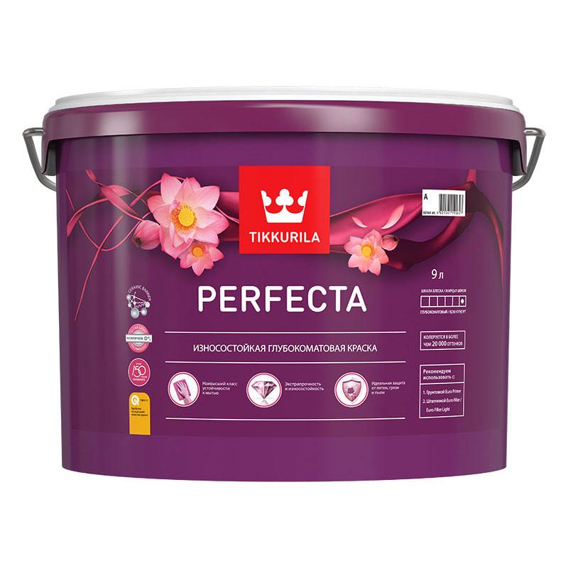 Краска для стен и потолков Tikkurila Perfecta, белая, 9л