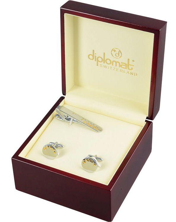 Запонки и зажим для галстука DIPLOMAT SETBG-003