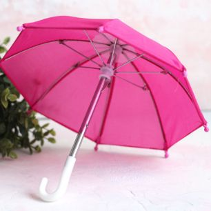Зонтик для куклы - Малиновый - 22 см.