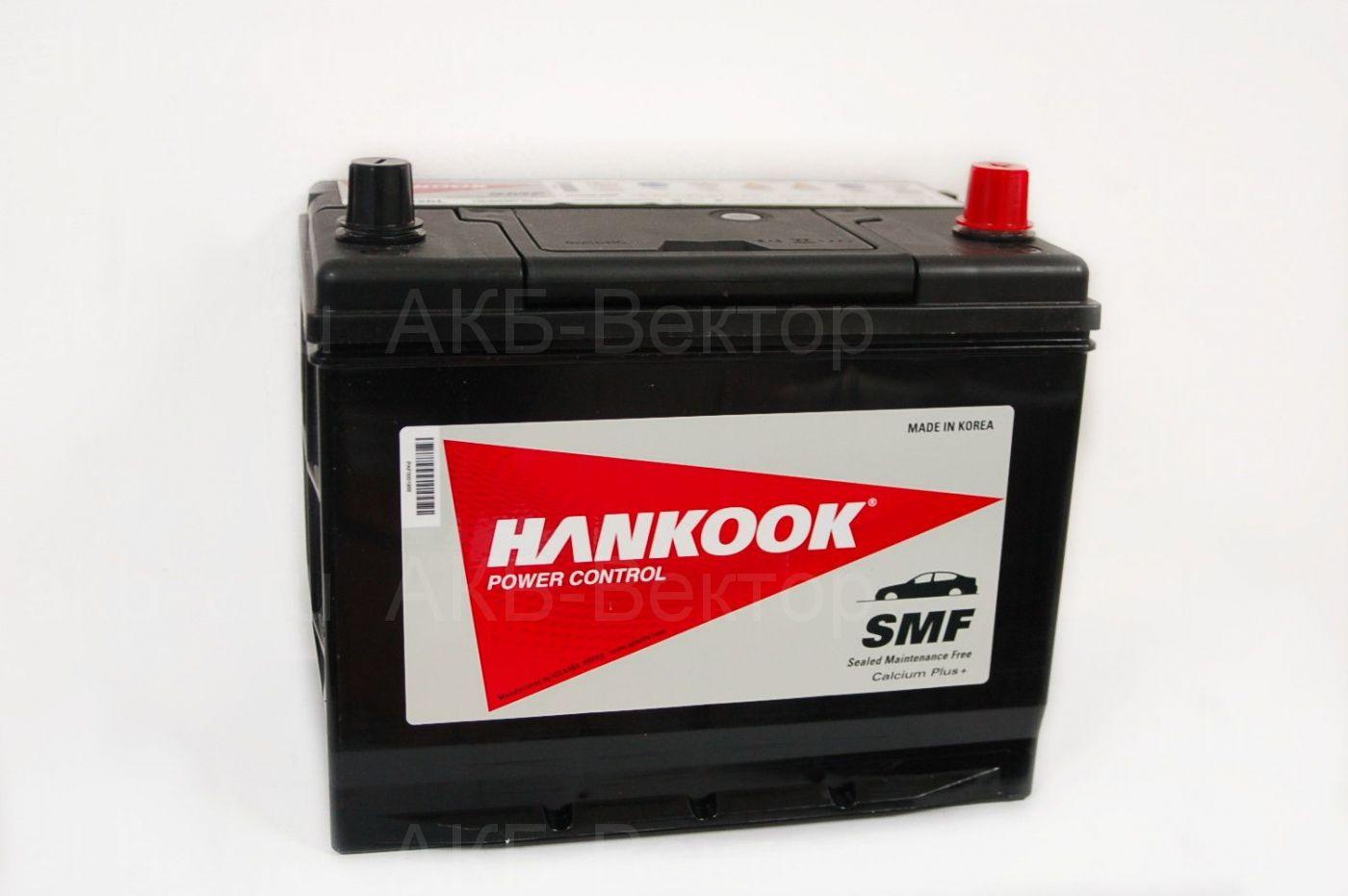 Hankook  72Ач 630А / 90D26L 2018г.