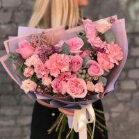 Сборный букет в розовых тонах