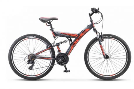 """Велосипед 26"""" STELS Focus V 18"""" Тёмно-синий/оранжевый 2021"""