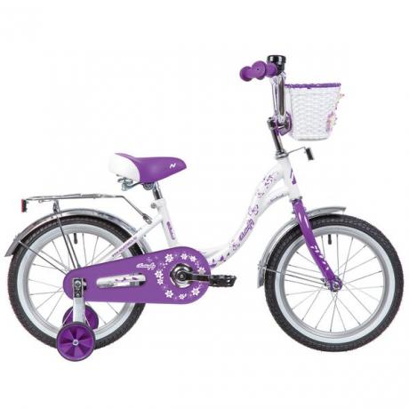 """Велосипед NOVATRACK 14"""" BUTTERFLY, белый-фиолетовый"""