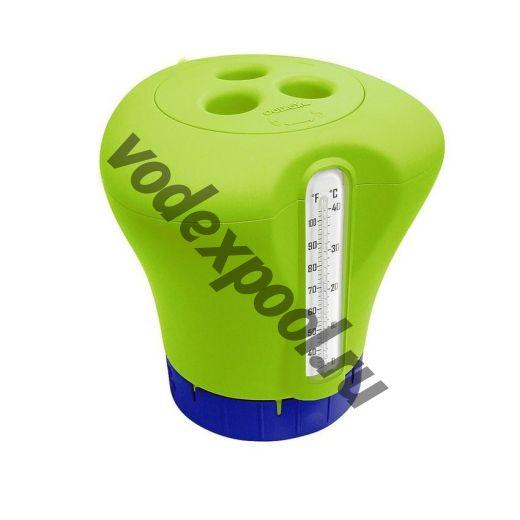 Дозатор Kokido K619BU (табл. 75 мм) зеленый с термометром