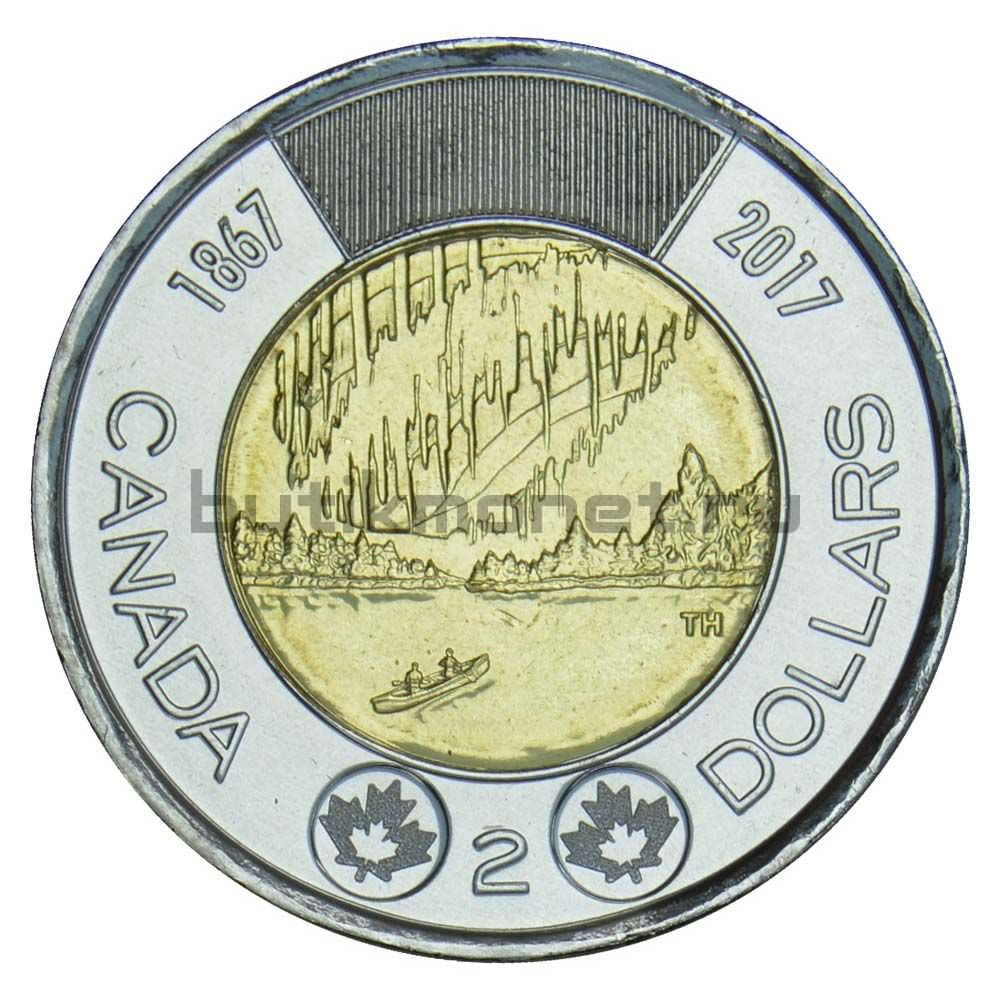 2 доллара 2017 Канада Полярное сияние (150 лет Конфедерации Канада)