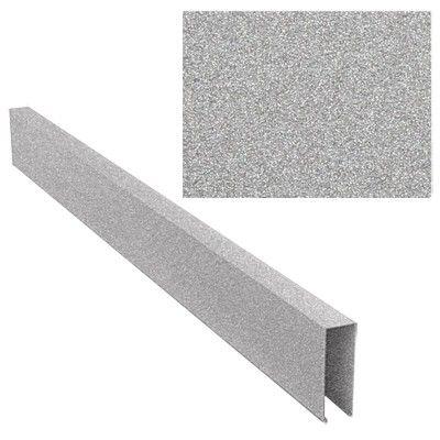 Кубообразный реечный потолок металлик серебристый