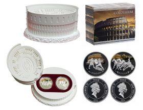 """Ниуэ 1 доллар 2014 г. """"Колизей"""" 2 монеты СЕРЕБРО"""