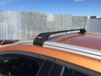 Багажник на интегрированные рейлинги Turtle Tourmaline V2, крыловидные дуги (черный цвет)