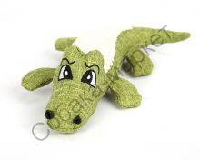 Игрушка Крокодил с набивкой и пищалкой