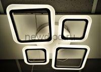 Управляемый светодиодный светильник GEOMETRIA 334 140Вт-25м² 6/3/4000K пульт 600мм белый Oreol