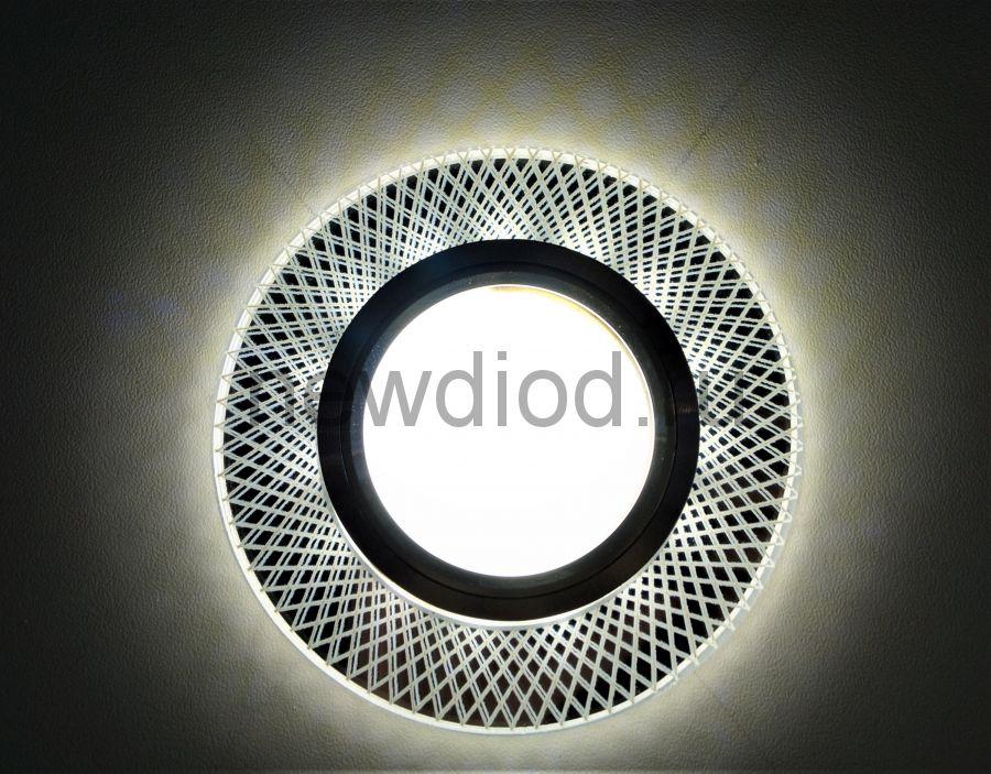 Точечный Светильник OREOL Crystal 6092 90/60mm Под Лампу MR16 Белый