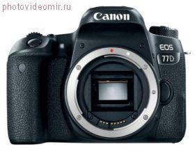 Зеркальный фотоаппарат Canon EOS 77D body черный
