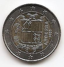 Андорра 2 евро 2020 Регулярная