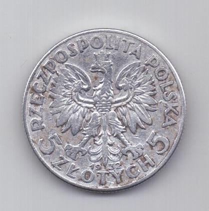 5 злотых 1932 года АUNC Польша