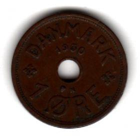 Дания 1 эре 1930 N-GJ
