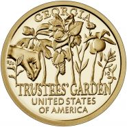 1 доллар США. Американские инновации - Джорджия, Сад Попечителей 2019 - 5 монета