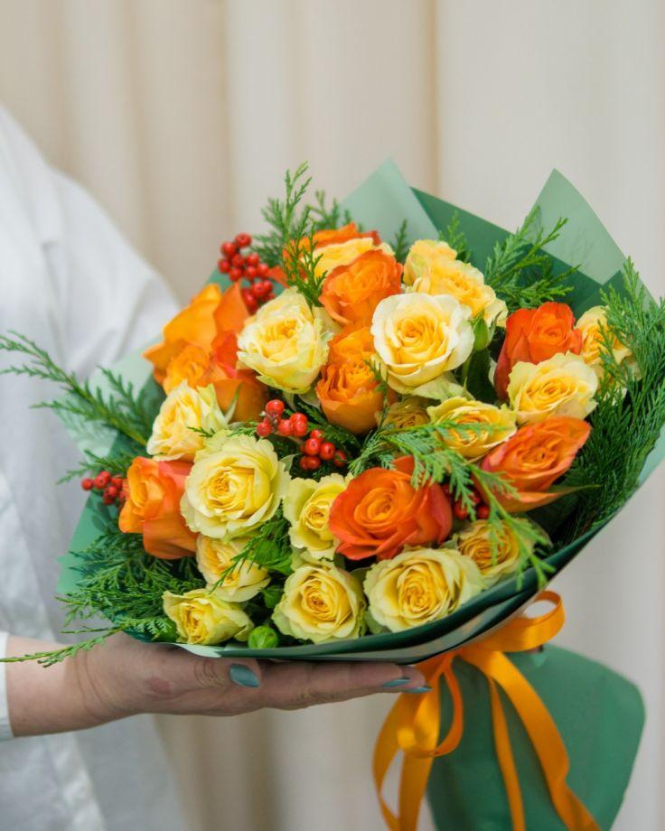 """Букет из цветов """"Оранж"""""""