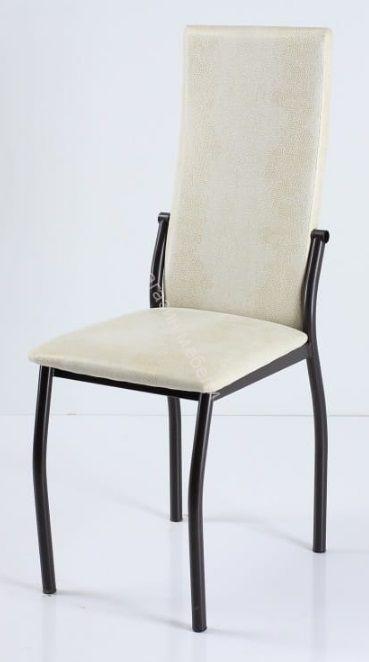 """Кухонный стул """"B-610"""" Белый нубук/Коричневый"""