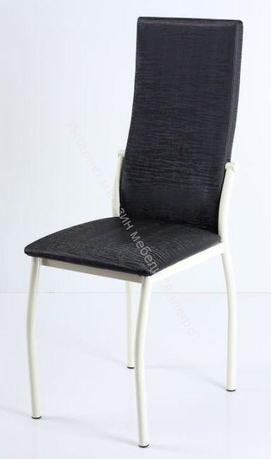 """Кухонный стул """"B-610"""" Антрацит бенгал/Белый"""