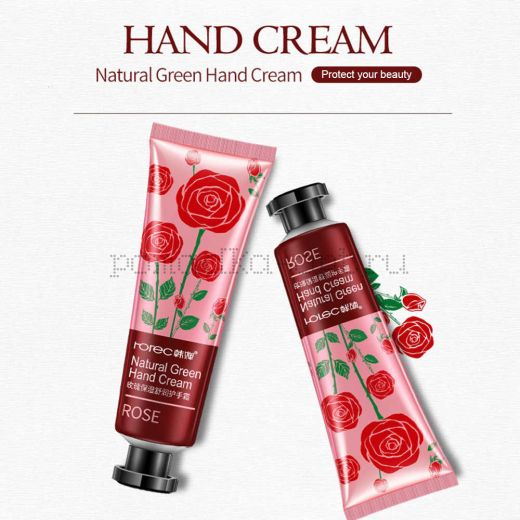 ОРИГИАЛ КРЕМ ДЛЯ РУК С ЭКСТРАКТОМ РОЗЫ ROREC NATURAL GREEN HAND CREAM ROSE