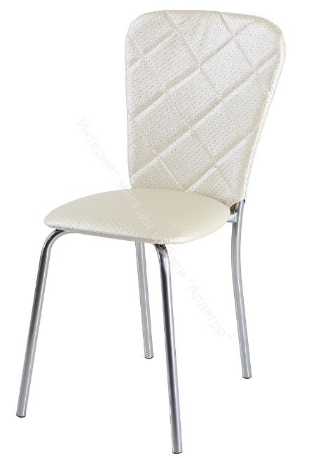 "Кухонный стул ""В-2"" Бежевый капитон/Хром"